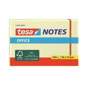 Tesa Office Sticky Notes, 100 sheets, 50mm x 75mm