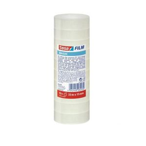 Tesa film Adhesive Tape Basic, 33MX15MM (Pack  of 10 Rolls)