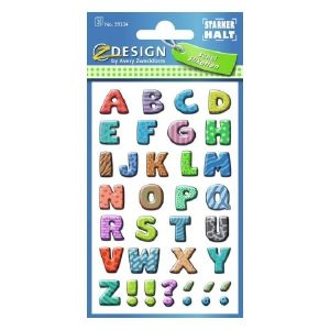 Avery Labels With Letters, 102 Labels Per 3 Pages