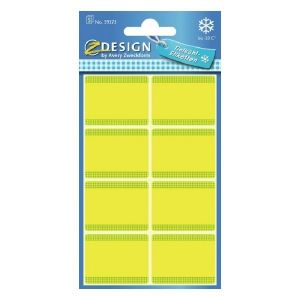 Avery Freezer Labels, Yellow Frame, 40 Labels Per 5 Pages