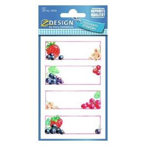 Avery Household Labels, Strawberries, 12 Labels Per 3 Pages