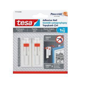 Tesa Adjustable Adhesive Nail for Wallpaper & Plaster up to 1kg