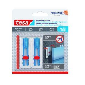 Tesa Adhesive Canvas Nail Adjustable, 2 Nails/ 3 Strips