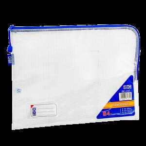 IBC B4 Mesh Single Zipper Bag Curved , Blue , IBC-C57