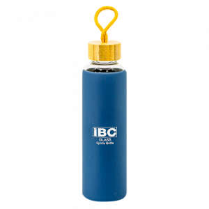 IBC Glass Bottle With Handle 550 ML, Blue, IBC-GBH-550
