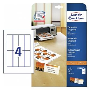 Avery Place Cards, 100 Labels Per 25 Pages