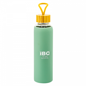 IBC Glass Bottle With Handle 550 ML, Green, IBC-GBH-550