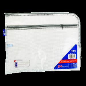 IBC Mesh Double Zipper Bag Curved , Grey, IBC-E57