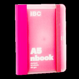 IBC A5 Notebook 90 Sheets Elastic Binder, Pink, IBC23NB033