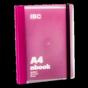 IBC A4 Notebook 90 Sheets Elastic Binder, Pink/Violet , IBC32NB012