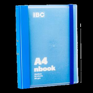 IBC A4 Notebook 90 Sheets Elastic Binder, Blue, IBC32NB021
