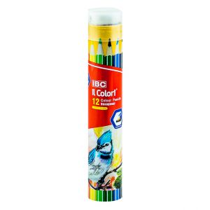 IBC 12 Colour Pencils Hexagonal, il Colori, Long  (IBC-X750-12TT)