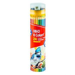 IBC 24 Colour Pencils Hexagonal, il Colori, Long  (IBC-X750-24TT)