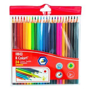 IBC 24 Colour Pencils Hexagonal, il Colori, Wallet  (IBC-X750-24PB)
