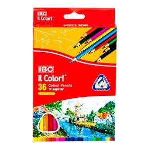 IBC 36 Colour Pencils Triangular, il Colori  (IBC-T780-36CB)