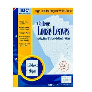 IBC College Loose Leaves 2-Holes 150 Sheets (LL150SH-2)