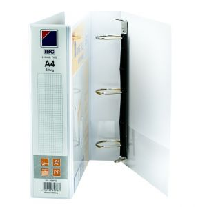 IBC D-Ring View Binder, 1.5 Inch, 3 Ring, White - (US-203PD)