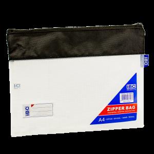 IBC EVA A4 Fabric Mesh Zipper Bag, Black,  IBC-F686