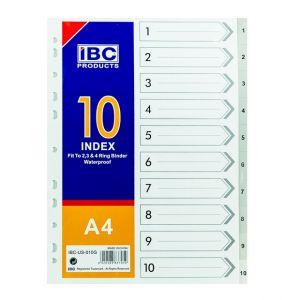IBC Index Divider 1 to 10, A4 (IBC-US-010G)