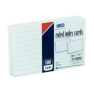 IBC Ruled Index Cards, 100 Cards (EIBC080214)