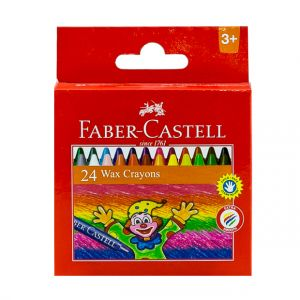 Faber Castell-Wax Crayons 24 Colors