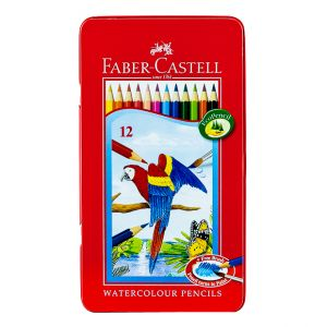 Faber Castell-Water Color Pen 12 Colors (Flat Tin)