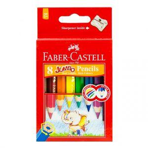 Faber Castell-Redline Jumbo Color Pencil 8 (Short)