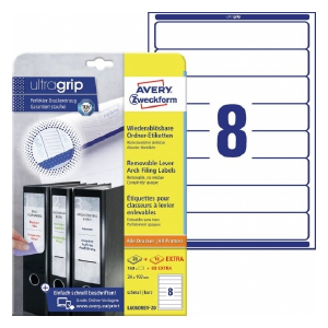 Avery Filing Labels In A4 Sheet , 160 + 80 Extra Labels Per 30 Pages