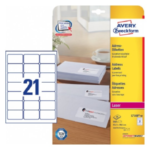 Avery Address Labels In A4 Sheet , 840 Labels Per 40 Pages