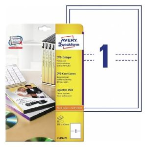 Avery DVD Case Inserts, 25 Cards Per 25 Pages