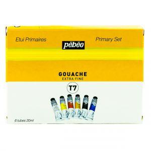 Pebeo Gouache Extra Fine T7 Color Set 6x20ml