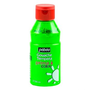 Pebeo Gouache Tempera Prima Color Fluorescent Green 250 ml