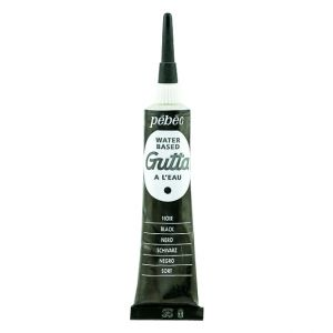 Pebeo Gutta Water Based Black color for Fabric Painting 20 ml