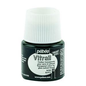 Pebeo Vitrail Black Color for Glass 45ml