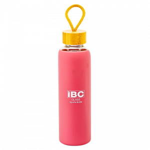 IBC Glass Bottle With Handle 550 ML, Pink, IBC-GBH-550