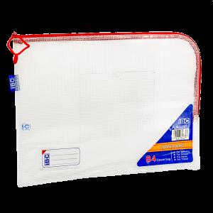 IBC B4 Mesh Single Zipper Bag Curved , Red, IBC-C57