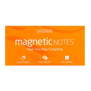 Tesla Amazing - Magnetic Notes - 100 Pages ,Large, Orange,10217