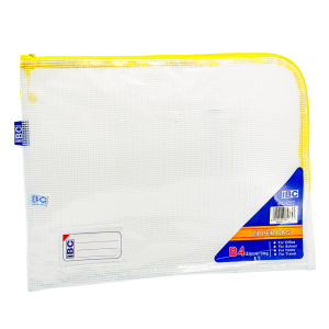 IBC B4 Mesh Single Zipper Bag Curved , Yellow , IBC-C57